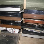 Stack of turntables